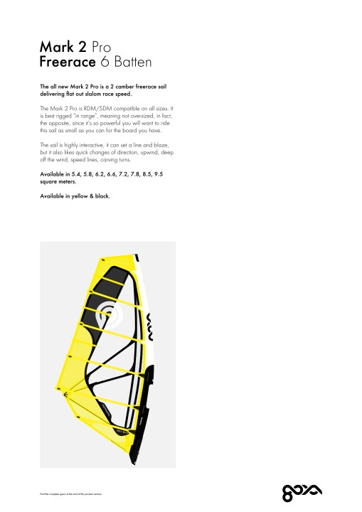 2019 Goya Windsurfing Range Overview Sails