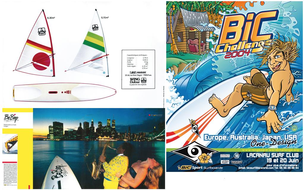 (LU)1979_Wing-Dufour_Old Complete Set (LB)1983_BeBop AD /(R)2004_BIC-Sport_historic_BIC-Challenge