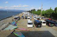 浜名湖・村櫛に北西強風シーズン到来!