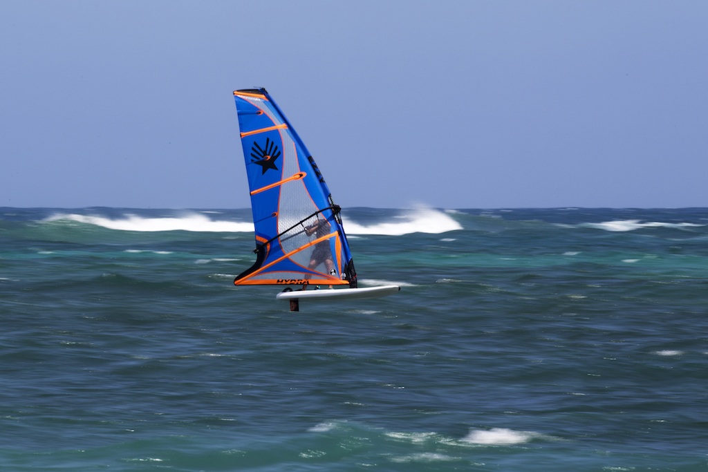 David Ezzy with Hydra 4.0㎡ @ Maui, Hawaii