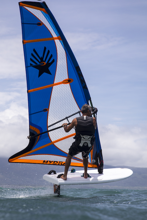 David Ezzy with Hydra 4.0㎡ @ Maui, Hawaii Hydra=4.0, 5.0, 5.5, 6.0, 7.0㎡