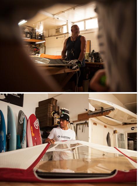Upper=Kai Hopf(Sail Designer) Lower=Victor Fernandez(E-42)