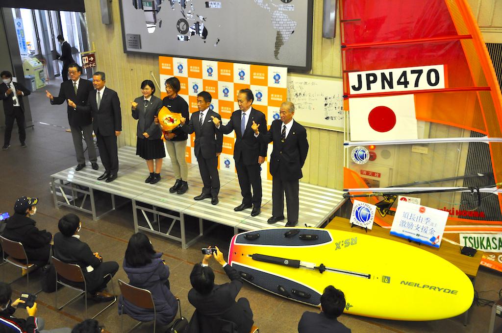 『須長由季選手激励式』12月11日、横須賀市役所