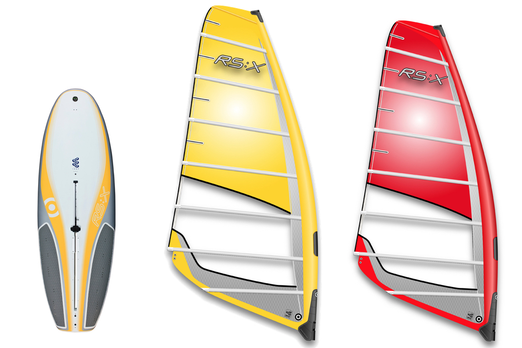 『RS:X』Board & Sail (※ボードのグラフィックなど、年式によって異なる部分もある)